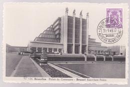 CPA - Bruxelles - Palais Du Centenaire - Brussel Eeuwfeest Paleis - 1949 - Cachet Salon Auto - Expositions
