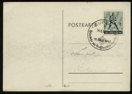 WW II Luftschutz Sonder Briefmarke Auf Postkarte: Gebraucht Mit Sonderstempel Eupen 1940 , Stempelbeleg. - Duitsland