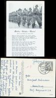 WW II Militär Liederkarte: Gerda ,Ursula , Marie, Gebraucht Mit Feldpost Aachen 1941 - Lettres & Documents