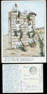 WW II Postkarte , Militär Humor: Gebraucht Feldpost Hamburg Harburg - Altona 1942 . Bedarfserhaltung. - Briefe U. Dokumente