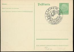 WW II Postkarte : Mit KdF Sonderstempel Löwe Reichmessestadt Leipzig 1939. - Briefe U. Dokumente