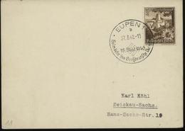 WW II Postkarte : Gebraucht Mit Sonderstempel Eupen 1940, Stempelbeleg. - Germany