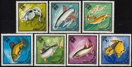 Mongolei MiNr. 952/58 ** Fische - Mongolei