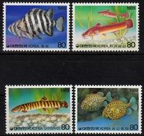 Korea Süd MiNr. 1602/05 ** Fische - Korea (Süd-)