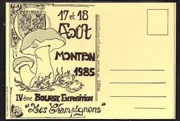 """MONTPONT.  IV éme Bourse Exposition """"Les Champignons"""" 1985. - Collector Fairs & Bourses"""