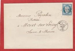 Seine Et Marne - Montereau GC 2451 Sur Cérès - Correspondance De Maître Giraux , Huissier 1875 - Marcophilie (Lettres)
