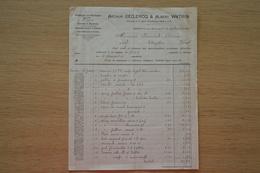 Facture Declercq 1905 Rebaix (Ath) Lampe Lampes Lumière - 1900 – 1949