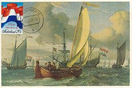 D37830 CARTE MAXIMUM CARD FD 1972 NETHERLANDS - DUTCH FLAG ON SHIP CP ORIGINAL - Maximumkaarten