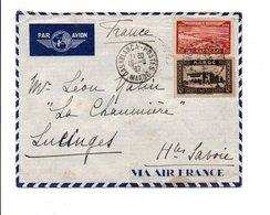 MAROC AFFRANCHISSEMENT COMPOSE SUR LETTRE DE CASABLANCA POUR LA FRANCE 1937 - Briefe U. Dokumente