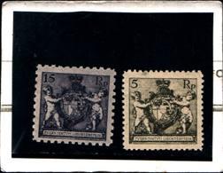 6513B)   FRANCOBOLLI - 1921 LIECHTENSTEIN STEMMA D.9 1/2+ D.12 1/2 -n.51a+47b-mnh** - Liechtenstein