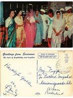 CPM SURINAME-Hindustani Young Women Pose With Beautiful Native Saris (329938) - Surinam