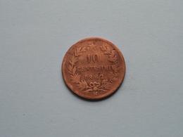 1862 M > 10 Centesimi ( KM 11.1 ) ! - 1861-1946 : Regno