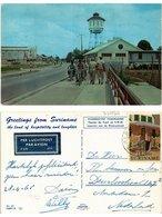 CPM SURINAME-Theater De Paarl En S.W.M Reservoir Aan De Wanicastraat (330166) - Surinam