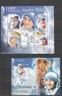 BC853 2010 S. TOME E PRINCIPE FAMOUS PEOPLE MOTHER TERESA 1KB+1BL MNH - Mother Teresa