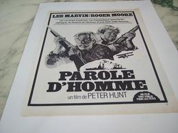 ANCIENNE PUBLICITE PAROLE D HOMME  FILM PARAMOUNT  1977 - Bioscoopreclame