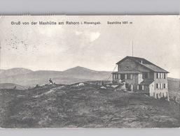 Gruss Von Der Maxhütte Am Rehorn I. Riesengebirge.Hotelstempel Violet Poststempel Herschendorf 1912 - Tsjechië