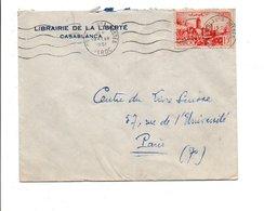 MAROC LETTRE A EN TETE DE  DE CASABLANCA POUR LA FRANCE 1951 - Lettres & Documents