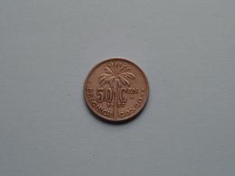 1927 > 50 Cent Belgisch Congo ( KM 23 / ( Voir Photo ) ! - 1910-1934: Albert I