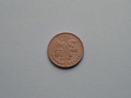 1925 > 50 Cent Congo Belge ( KM 22 / ( Voir Photo ) ! - Congo (Belgian) & Ruanda-Urundi