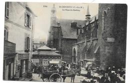 Cpa Rare Saint Brieuc La Place Du Martray Jour De Marche Tres Anime Etat Voir Scan - Saint-Brieuc
