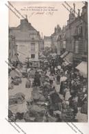 CPA SAINT FLORENTIN (89) : Place De La Fontaine, Le Jour De Marché (adressé à Mess Sous Off Lyon) - Saint Florentin