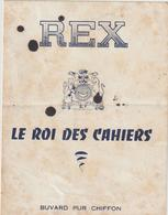 Buvard Pur Chiffon  REX  -Le Roi Des Cahiers - Papel Secante
