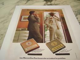 ANCIENNE PUBLICITE MAINTENANT 2 MECCARILLOS 1977 - Tabac (objets Liés)