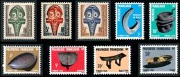 POLYNESIE 1958-87 - Yv. Taxe 1 à 9 (série Complète) **   Cote= 6,35 EUR - Masque Et Artisanat (9 Val.)  ..Réf.POL24240 - Timbres-taxe
