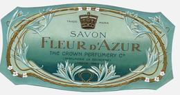 Etiquette Gaufrée - SAVON FLEUR D'AZUR, The Crown Perfumery, LONDON-PARIS - Etiketten
