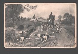 J. S. Sanderson Wells - Photogravure - 1907 - Hunt, Dogs / Chasse, Chiens - Schilderijen