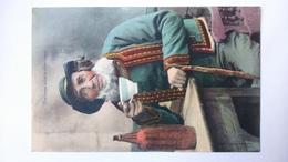 Carte Postale ( X4 ) Ancienne De Bretagne , Une Bonne Bolée De Cidre Breton - Bretagne