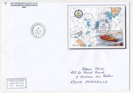 """TAAF - Enveloppe BF """"Levés Hydrographiques En Terre Adélie"""" - Obl Dumont D'Urville T. Adélie 2004 - 54eme Expédition - Lettres & Documents"""