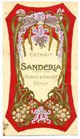 Etiquette Gaufrée - ROGER & GALLET - Extrait SANDERIA Orchidée - Etiketten