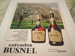 ANCIENNE  PUBLICITE CALVADOS BUSNEL 1977 - Alcools