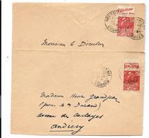 Timbres De CARNET Sur 2 Devants De Lettres - PUB BENJAMIN Et BLÉDINE (1931) - Carnets