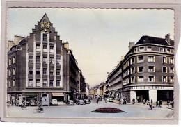 """Amiens La Rue Des Trois Cailloux (banque Société Générale Au Dos Cachet Du Restaurant """"Aux Amis De La Route"""" ( 4CV C15 ? - Amiens"""