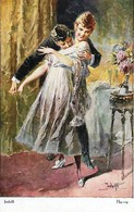 Adolf 'Jodolfi'  -  Passionate Couple Playing At Lovemaking. - Adolf 'Jodolfi'