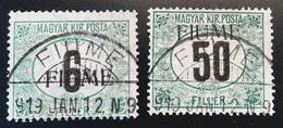 Fiume 1918-19 SEGNATASSE Sa. 1, 3 GENUINE (Italia Italy Croatia Hungary Hongrie Yougoslavie Jugoslawien Yugoslavia - 8. Occupazione 1a Guerra