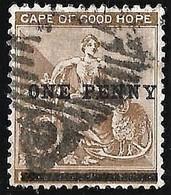 Cape Of Good Hope 1893. 1d NO STOP On 2d Pale Bistre. SACC 52b, SG 57b. - Südafrika (...-1961)