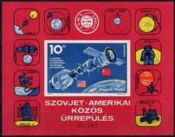 Ungarn MiNr. Bl. 111 B ** Amerikanisch-sowjetisches Raumfahrtunternehmen - Ungebraucht