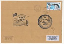 TAAF - Enveloppe Affr 4,30E Sterne De Kerquelen - Mission KER60 - Obl Port Aux Français Kerguelen 2/04/2010 - Franse Zuidelijke En Antarctische Gebieden (TAAF)