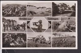 Ansichtskarte Grüße Aus Tübingen , Wehrmacht , Kaserne , Soldaten  Feldpost  1941 - Allemagne