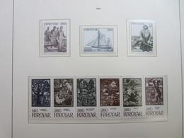Faroe Islands 1984 ,  Facit 105 - 113  MNH (Complete Sets) (Box 1 - 10) - Féroé (Iles)