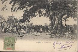 CAD Djougou Dahomey Dépendances 21 Juil 03 YT 9 CPA Marché Zagnanado - Dahome (1899-1944)