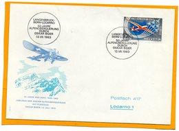 Pro Areo Switzerland 1963 FDC - Airmail