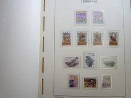 Faroe Islands 1986 ,  Facit 132 - 140 + 144 - 146  MNH (Complete Sets) (Box 1 - 13) - Féroé (Iles)