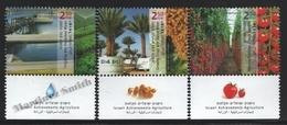 Israel 2011  Yv. 2121-23, Israeli Agriculture Achievements – Tab - MNH - Israel