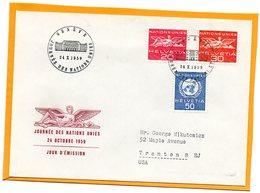 Switzerland 1959 FDC - Officials
