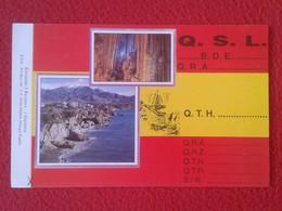 POSTAL POST CARD QSL RADIOAFICIONADOS RADIO AMATEUR SIERRA ALFA DIVISIÓNE SPAGNA SPAIN NERJA ANDALUCÍA MÁLAGA ANDALUSIA - Tarjetas QSL