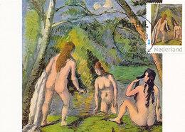 D37866 CARTE MAXIMUM CARD RR 2018 NETHERLANDS - PAUL CÉZANNE THREE BATHERS - FEMALE NUDE - READ!! CP ORIGINAL - Impressionisme